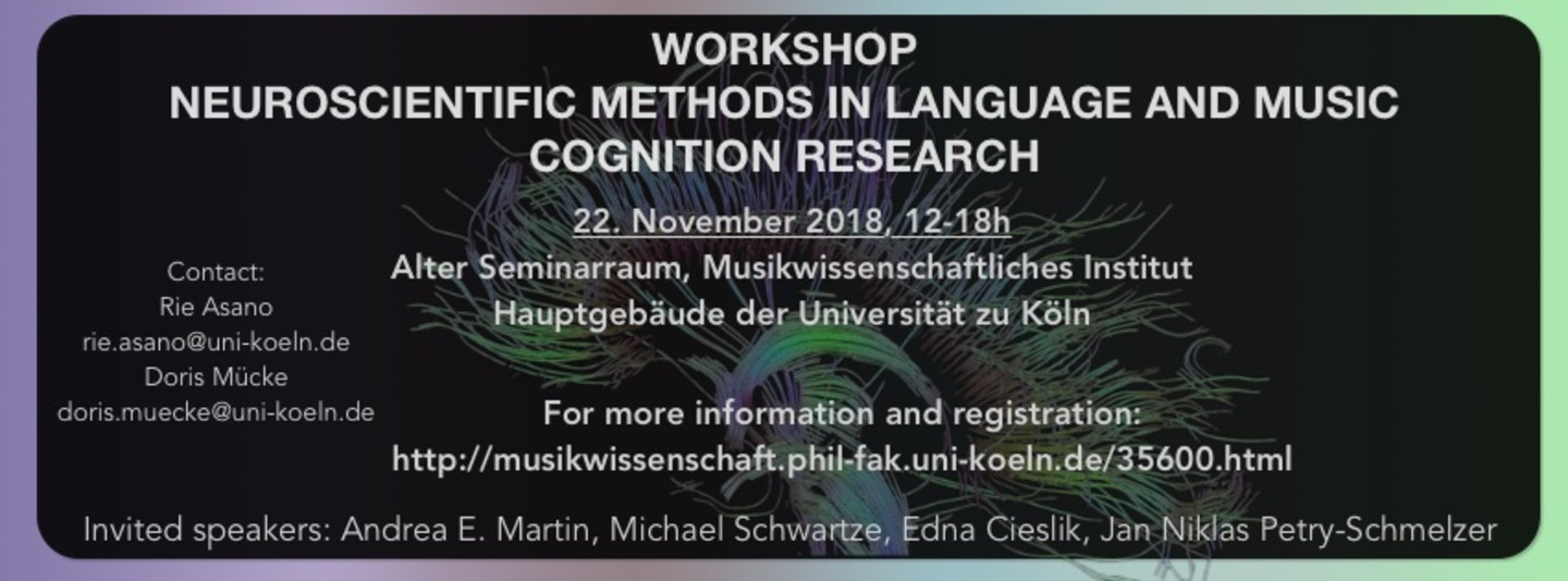 Workshop Language and Music Cognition